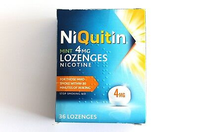 Niquitin Mint 4mg Lozenges Nicotine - 36 Lozenges - Stop Smoking Aid