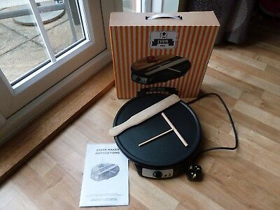 The Cook Shop Crepe Maker T Stick Spreading Tool & Spatula & Instruction Manual