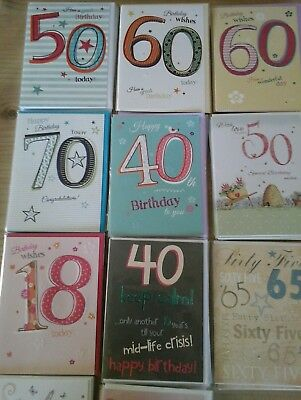 50 nice age cards, wholesale joblot greeting cards