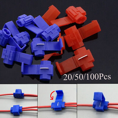 Spring Wire Cable Fitting Crimp Terminals Block Quick Connector Fast Splice