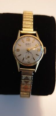 BWC Swiss 17 Jewels Gold 585 14K Uhr Armbanduhr Damenuhr