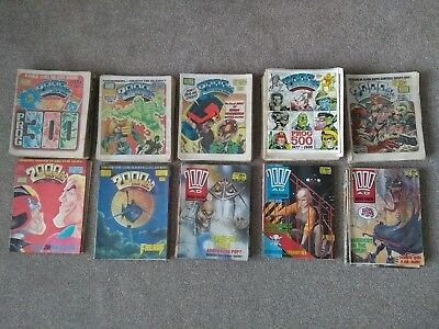 2000ad job lot comics 1983 - 1988