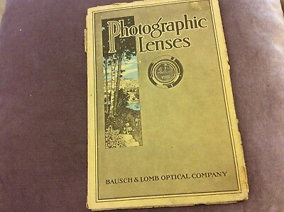 Photographic Lenses - Bausch & Lomb Catalog - 1920