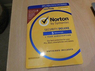 Norton Security Deluxe 2018 / 2019 - 5 Devices, 1 Year  Physical Product posted