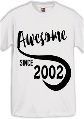 AWESOME 2002 16TH Birthday Gifts Present Gift Ideas T Shirt For 16