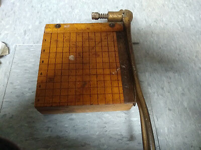 "Vintage Cast Iron Paper Cutter Trimmer Ingento No. 1  6""x6"""