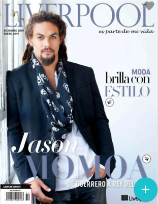 "NEW 2019 JASON MOMOA ""Liverpool"" MEXICAN MAGAZINE Aquaman DC Comics Movie"