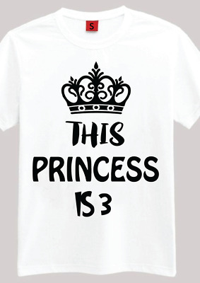 The Princess Is 3 3rd Birthday Gift T Shirt For Year Old Girls