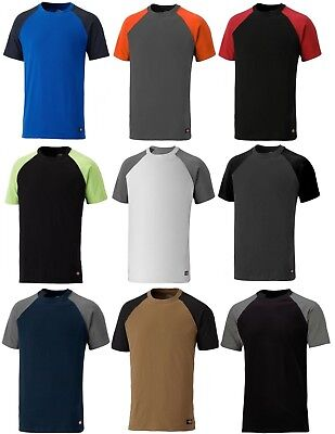Dickies Mens Hi Visibility Two Tone Workwear Short Sleeve Polo Shirt