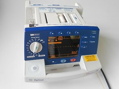 Agilent Heartstream XL Smart Biphasic Defib. Including ECG and Printer Options.