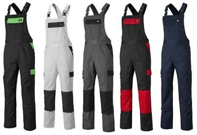 New Bib and Brace Knee Pad Dungarees Multi Pockets Overalls Mens Work Trousers