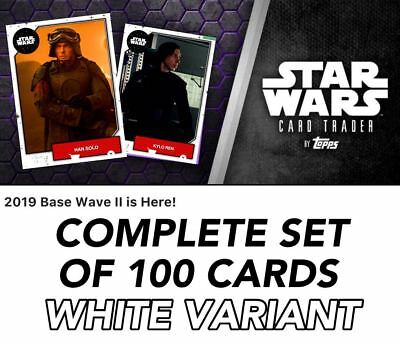 2019 BASE WAVE 2 SERIES WHITE COMPLETE SET OF 100 Topps Star Wars Digital Card