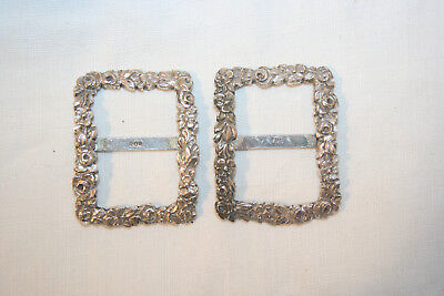 Pair of little 800 silver shoe buckles.