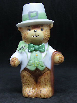 1980 Lucy & Me Irish St. Patrick's Day Bear In Top Hat Coattails And A Cane