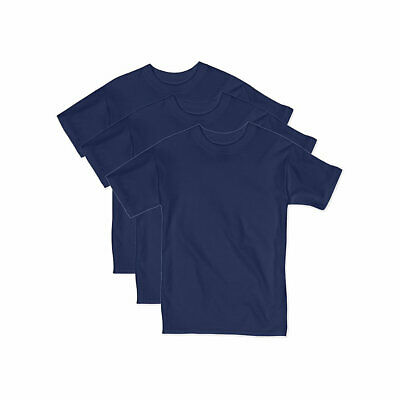 3-Pack Hanes Boys Beefy Short Sleeve T-Shirt - Value Pack - 8 COLORS - XS-XL