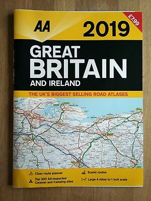 AA Great Britain and Ireland 2019 Road Atlas (Paperback), Non Fiction Books, New