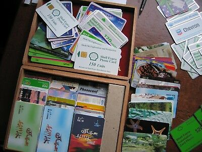 Large Quantity of Telephone cards. 300+.Various countries and Offshore platforms