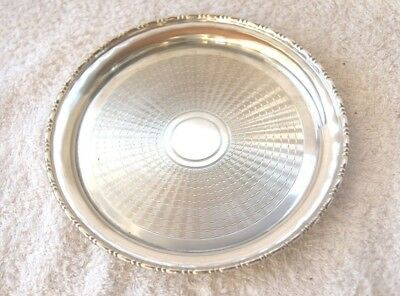 Vintage Silver Plated  Round Calling Card Tray .by Hamilton & Laidlaw