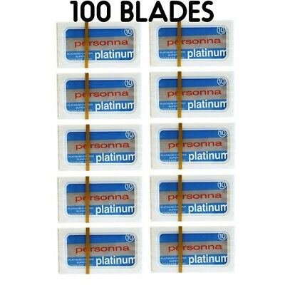 100 Israeli Personna Stainless Steel Double Edge Blades- Safety Razor - DE Shave