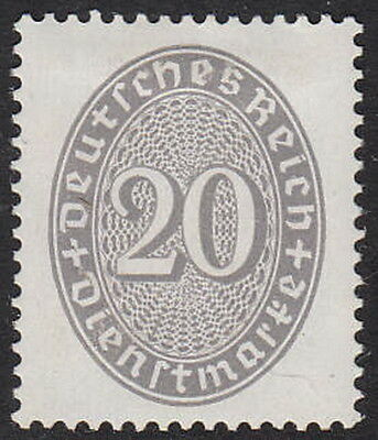 Stamp Germany Official Mi 126 Sc O76 Dienst Reich Empire Inflation Straw Hat MH