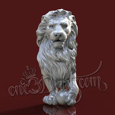 3D Model STL for CNC Router Artcam Aspire Lion Stolb Baluster 4 Axis Vcarve