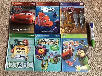 Lot of Leap Frog Tag Books. 6 Books With Leap Reader Pen!