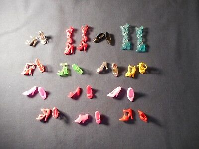 Barbie Doll Shoes/Boots Lot of 14 Pairs