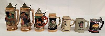 Ceramic collectible German beer steins&Harley Davidson lot of 7