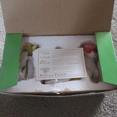 Fitz and Floyd  2002 Bunny Blooms Tumblers Set of 3   Free Shipping