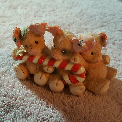 This Little Piggy Yuletide Yummies Fill Our Tummies Enesco 1995 numbered