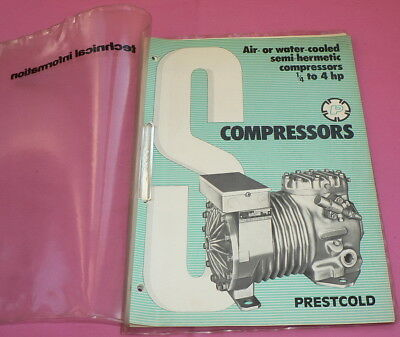 technical informati, Air or water cooled semi Hermetic compressors, catalog 1975
