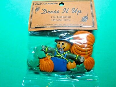 Dress It Up Fall Collection Harvest Time Halloween Plastic Craft Embellishments