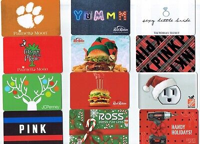 Collectible Gift Card - YOU CHOOSE 3 for $1.59 -Holiday Red Robin, Pink, Clemson