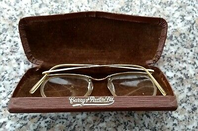 Vintage quality Spectacles by Curry & Paxton Rolled Gold Rimmed Glasses v/g/c
