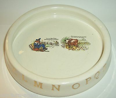 Antique East Liverpool Pottery Co Ohio  Childs ABC Nursery Rhyme Bowl