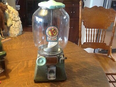 Antique Northwestern 1 Cent Coin Op Peanut Vending Machine With Key