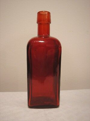 Wheaton Glass Paneled Red Bottle Millville New Jersey