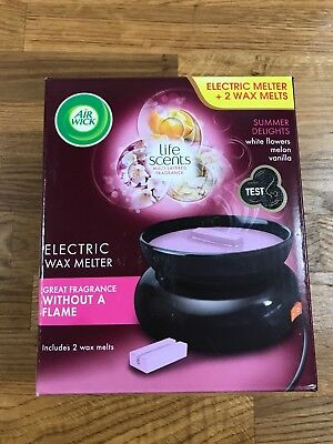 Airwick Electric Wax Melter Burner Brand New Unopened and Boxed With 2 Wax Melts