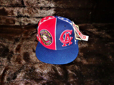 eb268d490abf6 American Needle California Angels 7 3 4 Flat Bill Cap Red Blue White NWT