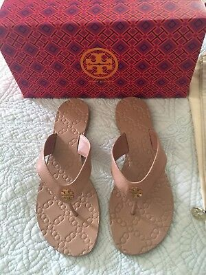 8ab40d00b TORY BURCH MONROE Leather Thong Sandals Light Makeup Size 9 New  138 ...