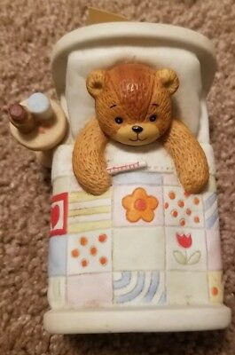 LUCY & ME Sick Bear in Bed Enesco
