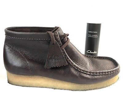 CLARKS ORIGINALS WALLABEES Mens US 10 M Brown Leather Lace