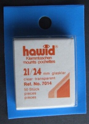 Hawid clear mounts 21 x 24mm pack of 50  or buy 4 of any size and get 1 free