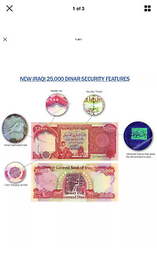 400,000 IRAQI DINAR UNCIRCULATED CURRENCY 16 x 25,000 25000 IQD