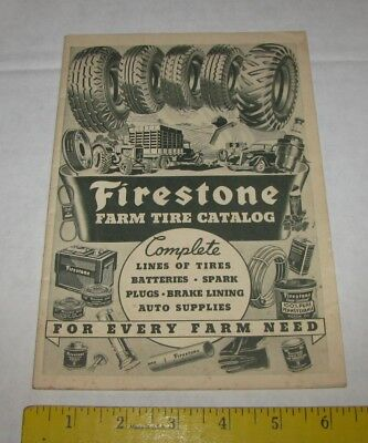1936 Firestone Farm Truck Tire Catalog Brunswick Md Mailer Booklet Ads