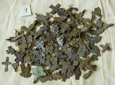 Metal detector finds.Mix lot  ancient crosses (The age of 12-19) N61