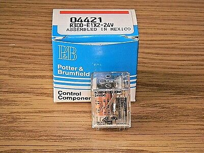 P&B Potter & Brumfield R30D-E1X2-24V Relay Dual Coil Magnetic Latching 600 Ohm