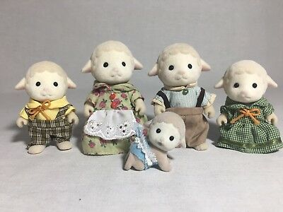 Calico critters/sylvanian families Sheep family of 5