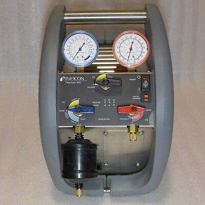 Refrigerant Recovery Machine Inficon Vortex AC, Clean Low Hours, AC 714-202-G1.