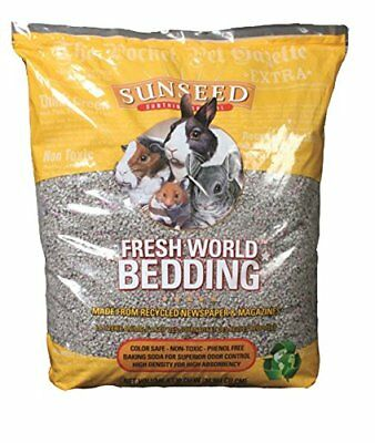 SunSeed Fresh World Bedding Paper Based Litter Small Animal Gray 20 lbs